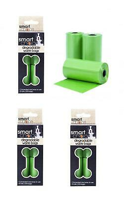 360 Dog Pet Poo Waste Bags Green Biodegradable Thick Strong Large Smart Choice
