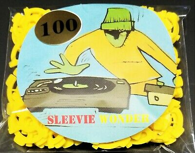 """100 Spindle Adapters Seven Inch Vinyl Records Yellow Plastic Insert dj 7"""" 45rpm"""