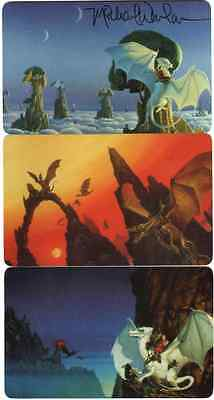 "Michael Whelan - autographed ""Dragon"" Phone Card set  [3 cards] [1 signed]"