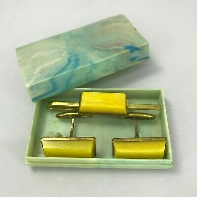 tie clip with natural agate from 1960s Vintage Soviet Tie Clip brass gold-plated tie clip