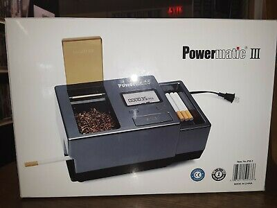 *New Powermatic Iii (3) Electric Cigarette Rolling Machine Injector