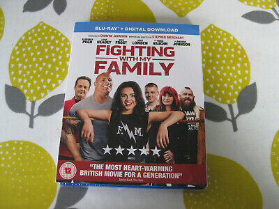 FIGHTING WITH MY FAMILY (2019) - The Rock, Florence Pugh Region B Blu Ray - NEW