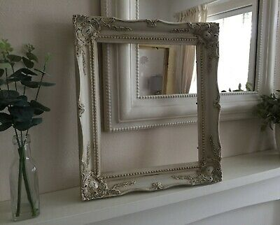 French Vintage Shabby Chic Old Ornate Photo Picture Frame Antique White Wedding