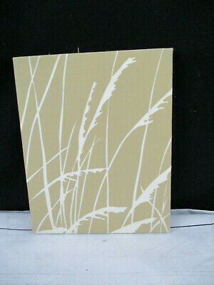 "Vintage Marushka Fabric Art Print Tan Sea Grass 8"" x 10"" Mid Century 70's"