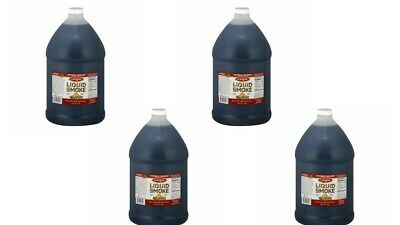 4 x COLGIN LIQUID SMOKE - Natural HICKORY BBQ Marinade! LARGE 1 US Gallon Bottle