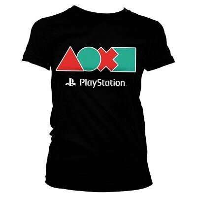 Womens PlayStation Controller Button Icons Fitted T-Shirt - Ladies Games Tee
