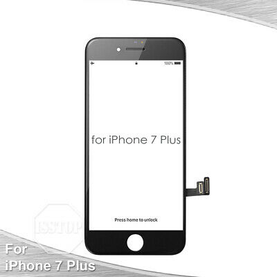 Black iPhone 7 Plus LCD Display Touch Screen Digitizer Frame Replacement A1661