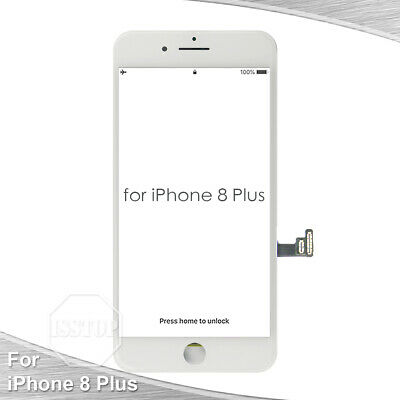 White iPhone 8 Plus LCD Display Touch Screen Digitizer Frame Replacement A1864