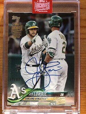 2019 Topps Archives Signature Series Jed Lowrie 2018 Topps Auto /97