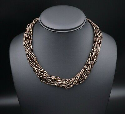 """NWT Silpada Sterling Silver Bronze Brown Seed Bead Necklace 18"""" N1815 NS1521"""