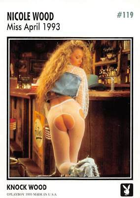Playboy 1995 Trading Card Nicole Wood Miss April 1993 #119