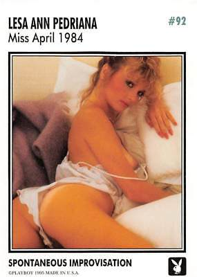 Playboy 1995 Trading Card Lesa Year Pedriana Miss April 1984 #92
