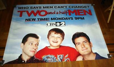 TWO AND A HALF MEN 2005 5FT SUBWAY POSTER Charlie Sheen Jon Cryer