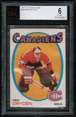 1971 72 opc O-Pee-Chee #45 Ken Dryden Rookie Rc BVG 6 Ex-mt Montreal Canadiens