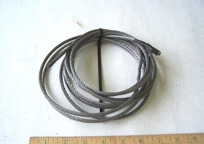 """Steel Cable or Wire Rope 3/16"""" diameter 12' in length used in good condition"""