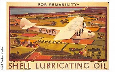 Post Card Advertising Ads Shell Oil n65 Illustration Barnett Freedman