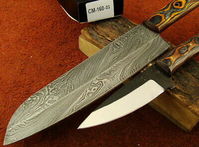 Set of 2 Handmade Damascus Knives Hunting Kitchen/Chef's Knives NEW! 160-03