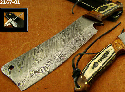 "12.2"" Alistar Handmade Damascus Steel Butchers Meat Cleaver Knife New! 2167-01"