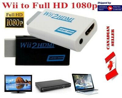 Wii to HDMI Converter Adapter 720p 1080p HD Upscale 3.5mm Audio Output