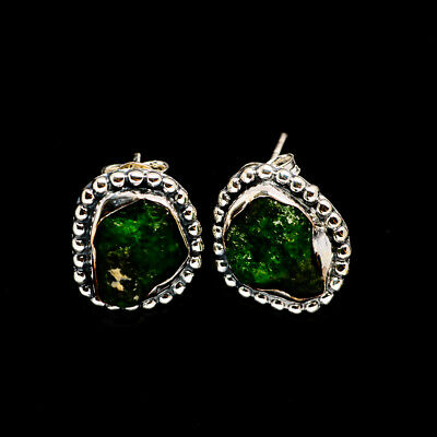 "Chrome Diopside 925 Sterling Silver Earrings 5/8"" Ana Co Jewelry E386067F"