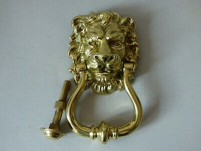 Collectable Architectural Lions Head Solid Brass Door Knocker Bolt #9 Free Uk Pp