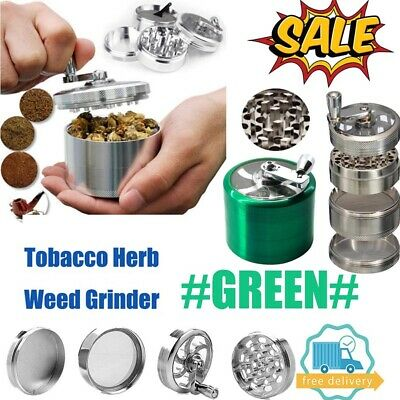 Green Large Stainless Spice Tobacco Herb Weed Grinder-4 Layers Crusher 55MM