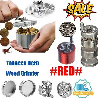 Red Large Stainless Spice Tobacco Herb Weed Grinder-4 Layers Crusher 55MM