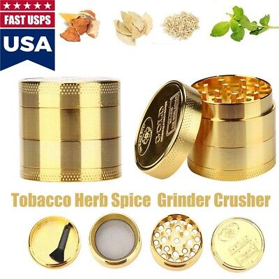 40*36mm Gold Stainless Spice Tobacco Herb Weed Grinder-4 Layers Crusher Gift