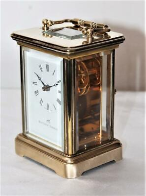 Low Reserve Fine Matthew Norman Swiss 11 Jewel Carriage Clock Great Condition