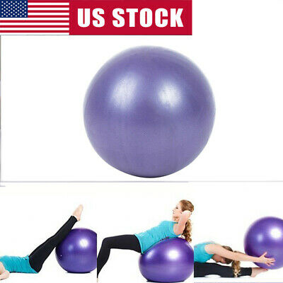 Yoga Ball Exercise Fitness Balance Gymnastic Strength Workout Stability Train US