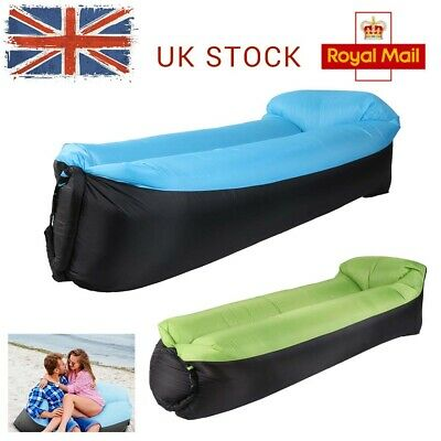 Lazy Sofa Inflatable Air Lounger Bed Beach Bag Sleeping Hangout Couch Pillow NEW