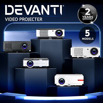 Devanti Smart HD Android Video Projector Wifi Bluetooth Home Cinema HDMI USB