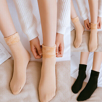 Women Autumn Winter Warm Thick Solid Elastic Breathable Middle Tube Socks Novel