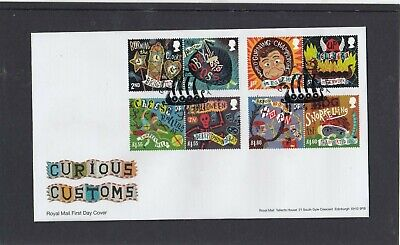 GB 2019 Curious Customs Royal Mail FDC First Day Cover Lerwick Shetland spec pmk