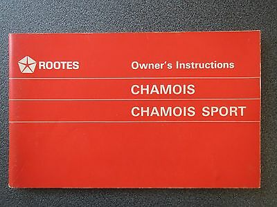 Sunbeam (Rootes) Chamois ( Sport)  Owner's Instructions c.a. 1969