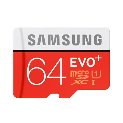 Samsung Memory 64GB EVO+ Plus Class 10 Micro SD Card with Adapter