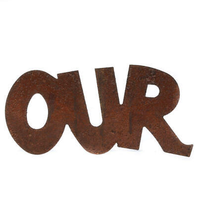 Rusty Tin Our Sign   12 Pieces