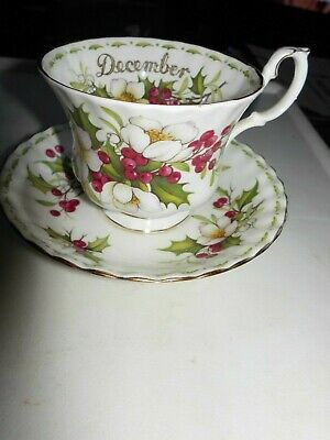 """Royal Albert ' Flower Of The Month """"December Christmas Rose Cup & Saucer Only"""