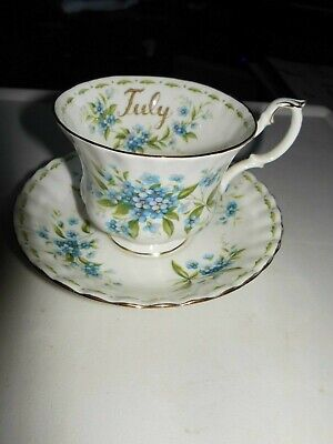 """Royal Albert ' Flower Of The Month """" July Forget Me Not   Cup & Saucer Only"""