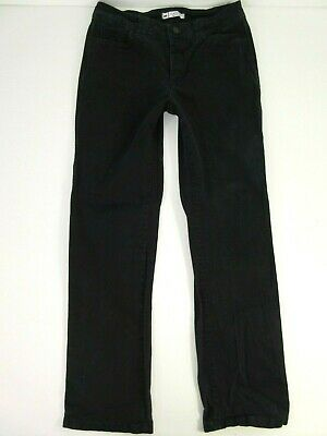 Lee Women's Size 10 Classic Fit Straight Leg Jeans Pants Jet Black Stretch