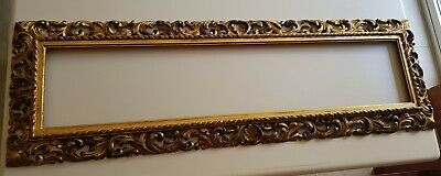 Florentine 19th Century Carved, Pierced And Gilded Frame