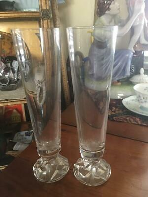 64de13f8e32 LOT OF 4: Tiffany & Co Fluted Plaid Patterned Champagne Flutes with ...