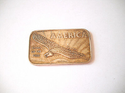 FINE SILVER BAR   * American Argent Mint America .999 1 One Troy Ounce *