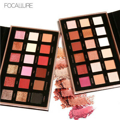 FOCALLURE 18 Colors Pearlized Color Eyeshadow Powder Eye Shadow Palette Set