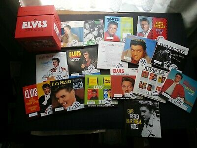 Elvis Presley - 16 CD SINGLES - ALL PROMO STICKERED - ODDS / ENDS UNPLYD + BOX