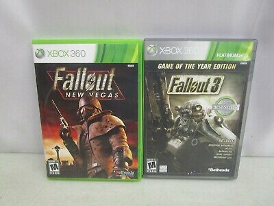 XBOX 360 Lot of 2 Games *FALLOUT 3 GOTY & FALLOUT NEW VEGAS*