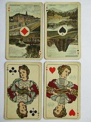 Wereld. SN. Great antique Dutch playing cards pack. Dutch Indies aces. c1925.