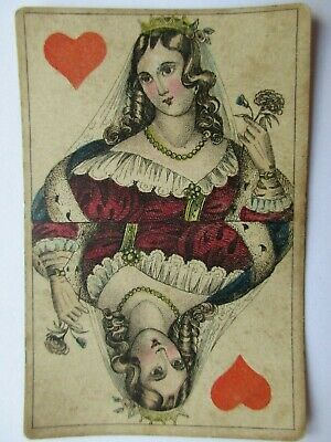 Frommann. Gorgeous antique playing cards deck. German illustrated aces. c1850?