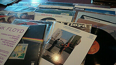 Pink Floyd Lot Of 31 Lps Quad Dark Side Half Speed Wish Saucer Piper 2 Pic Discs