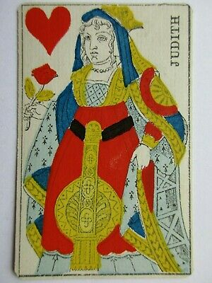Gatteaux. Frankreich. Gorgeous antique single ended playing cards deck. France.